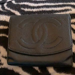 Authentic Chanel Black Leather Wallet